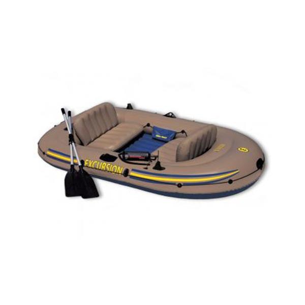 Intex Excursion 3 Inflatable Raft Set- Three Man Blow Up Fishing Boat
